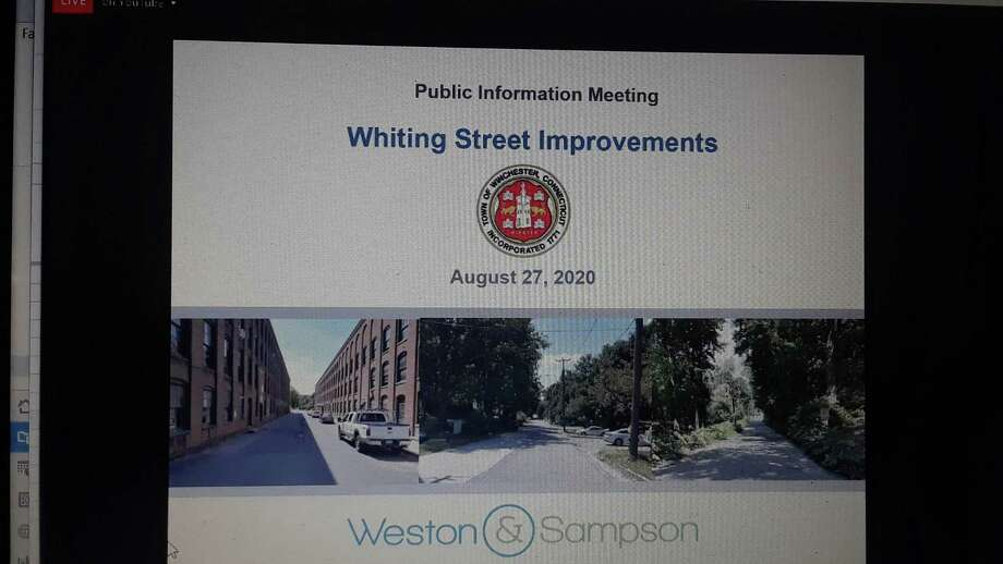 Residents joined the Winchester Public Works Department, the Planning & Zoning Commission and a design team to discuss the Whiting Street improvement project, which is funded by a state grant. Photo: Emily M. Olson / Hearst Connecticut Media