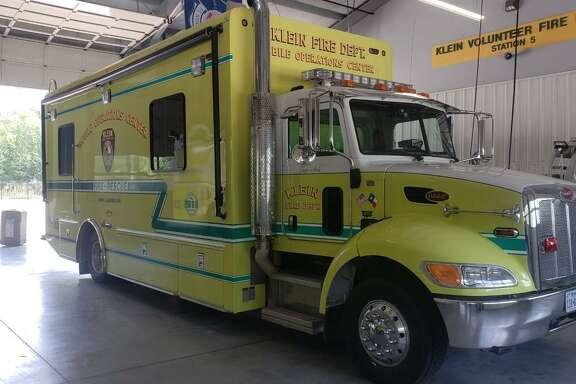 The Klein VFD mobile command operations center is equipped and ready to go for rescue and evacuation.