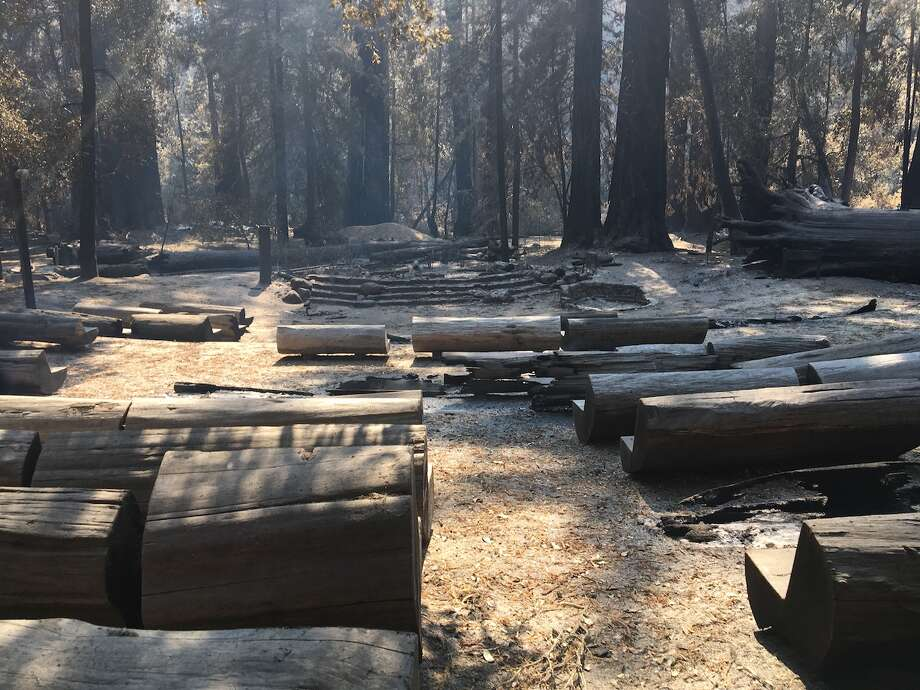 Damage at the park's amphitheater. Photo: © California State Parks, All Rights Reserved.