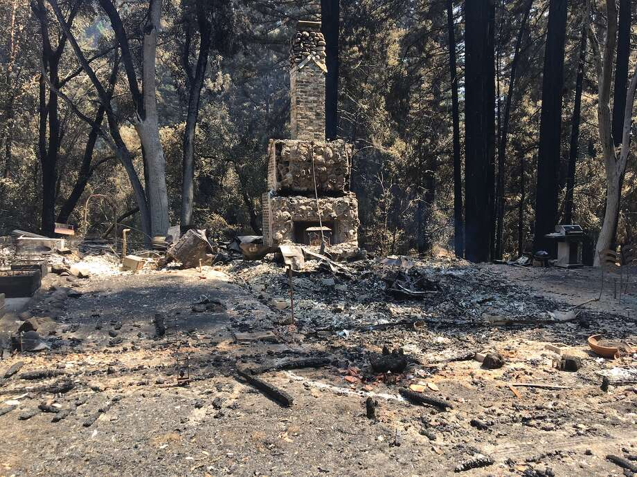 Burned down gatehouse. Photo: © California State Parks, All Rights Reserved.