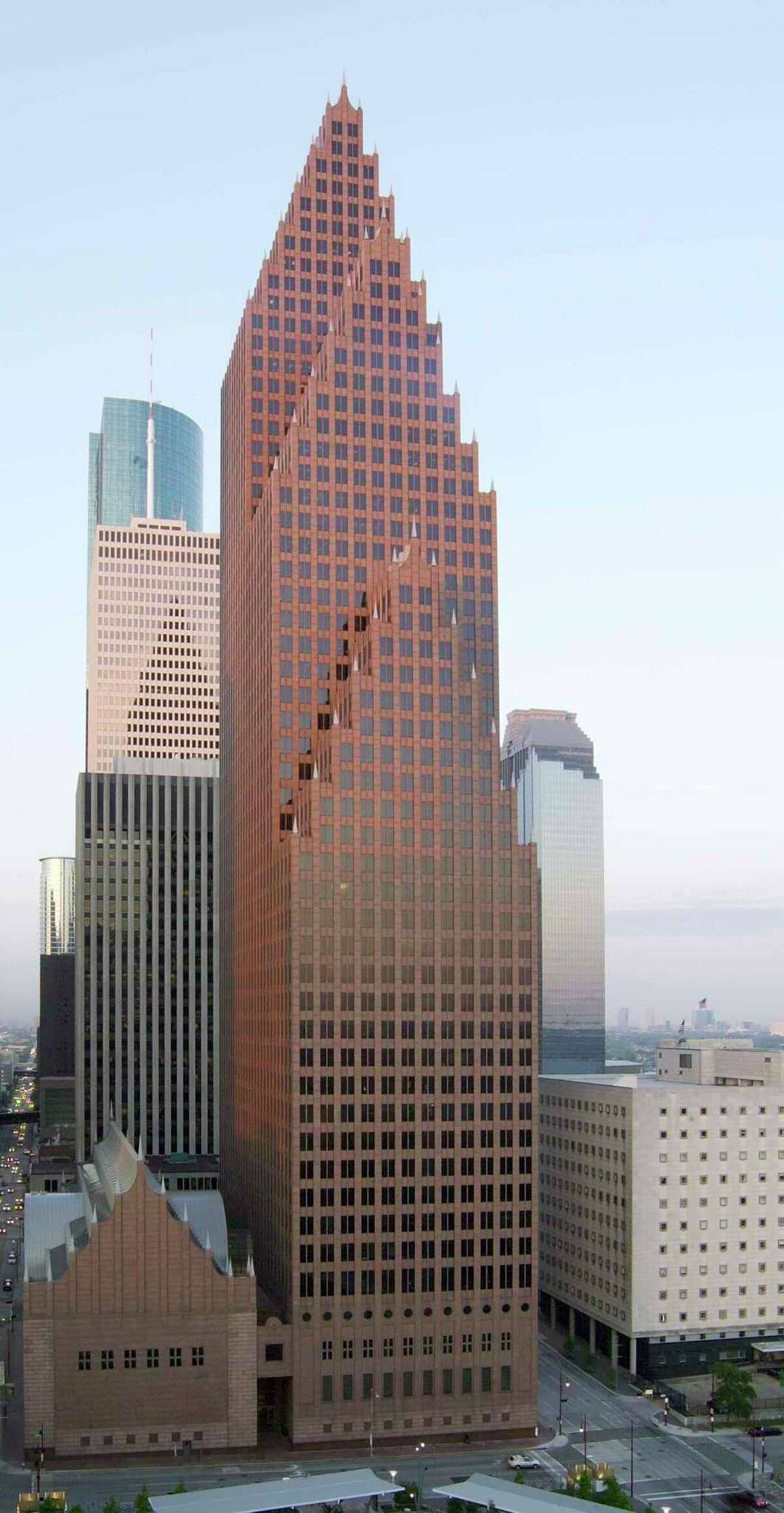 Houston's 56-story Bank of America Center at 700 Louisiana, was designed by architects Phillip Johnson and John Burgee and developed by Hines. It was completed in 1983.