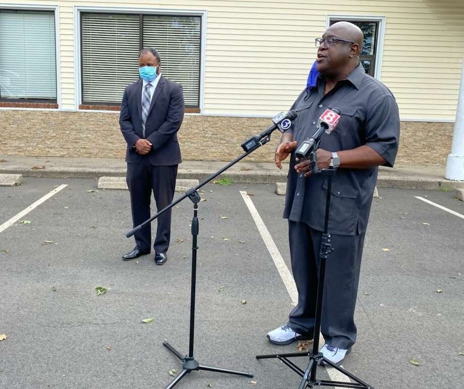 The Rev. Boise Kimber, at microphone. Photo: File Photo