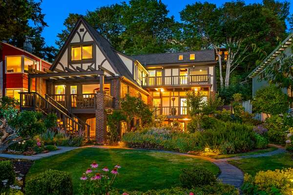 West Seattle beachfront Tudor for sale.