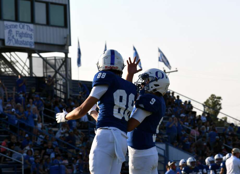 The Olton football team suffered a 37-27 loss to Sudan on Friday, Aug. 28, 2020 to open up the high school football season in Olton. Photo: Nathan Giese/Planview Herald