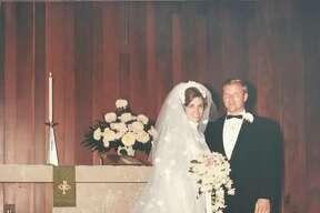 Jim and JoAnn Matevey at their wedding