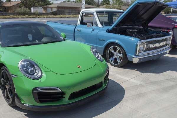 Area car enthusiasts come together 8/29/2020 for a Car Show and Shine, outside Gloria's Diner on Briarwood Ave, to help support local business and show off thier cars. Tim Fischer/Reporter-Telegram