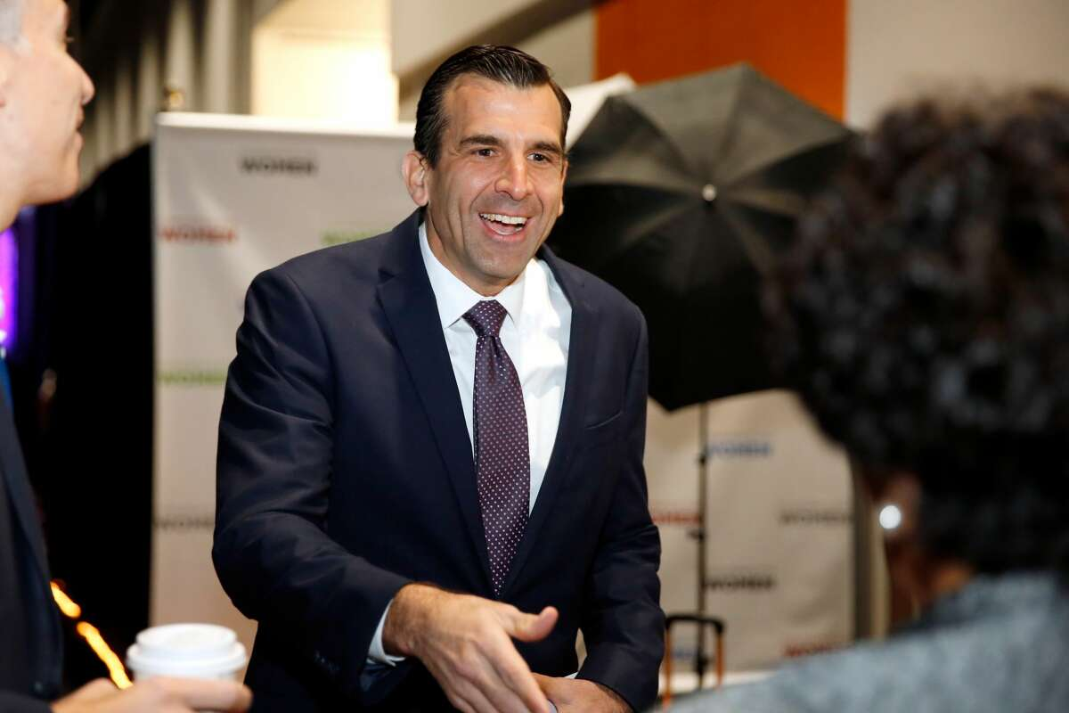 FILE: Mayor of San Jose, Sam Liccardo, is seen backstage at the Watermark Conference for Women 2018 at San Jose Convention Center on February 23, 2018. (Photo by Marla Aufmuth/Getty Images for Watermark Conference for Women 2018)