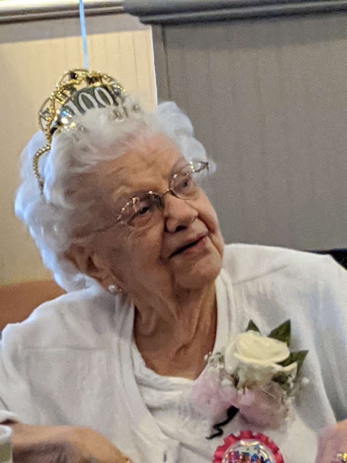On Wednesday, August 26, 2020 a group of friends gathered to celebrate Adrienne DesJardins 100th birthday in Colonie.