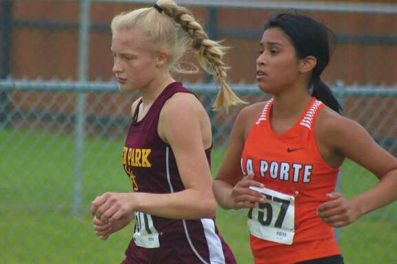 Deer Park's Jayla Viator, shown in competition at last year's District 21-6A race, is one of four returners for coach P.J. Graham this season, making them a bonafide district title contender. Deer Park will host district Oct. 29.
