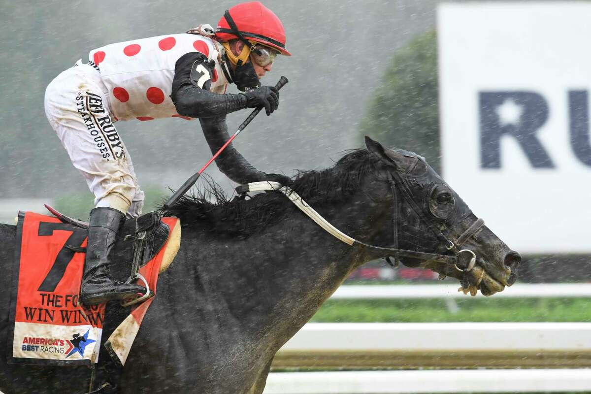 Win Win Win with jockey Javier Castellano out duels Complexity with jockey Jose Ortiz to the wire for the win in the 41st running of The Forego Saturday Aug.29, 2020 at the Saratoga Race Course in Saratoga Springs, N.Y. Photo by Skip Dickstein/Special to the Times Union