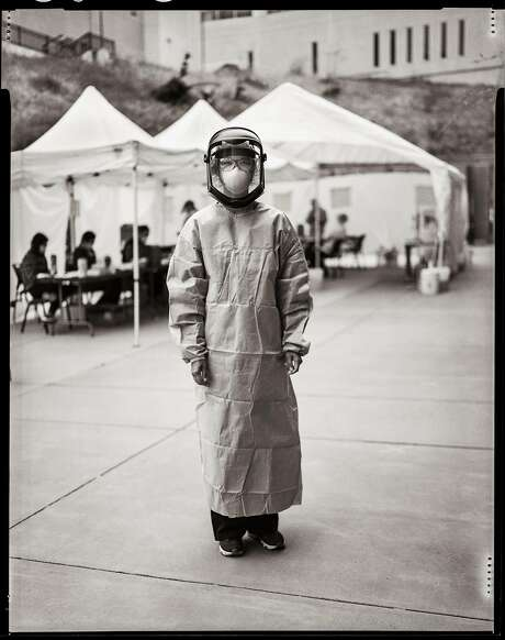 Nurse Pauline Tran. Testing for Covid-19. Laguna Honda Hospital. Midwood Terrace, San Francisco, California. Wednesday, June 24, 2020. Photo: Gabrielle Lurie / The Chronicle