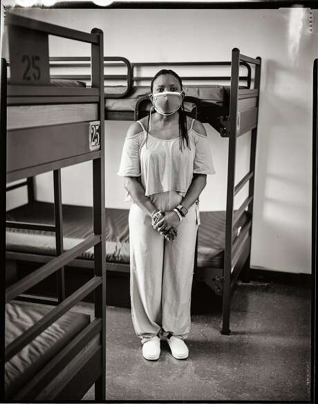 Tonya Allen, 46. Operations for Hamilton House - Homeless shelter for families.  Tenderloin District. San Francisco, California. Wednesday, July 1, 2020. Photo: Gabrielle Lurie / The Chronicle