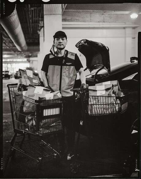 Max Rhee, 36. Amazon Prime Delivery Driver. Pacific Heights, San Francisco, California. Tuesday, July 28, 2020. Photo: Gabrielle Lurie, The Chronicle