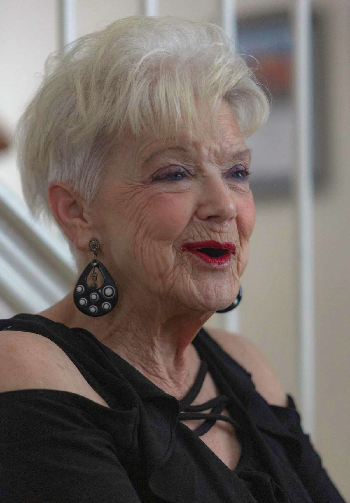 Doris Griffin talks with visitors at her home Aug. 25, 2020. An advocate of seniors for 30 years, her latest effort is spearheading a campaign for the safety and well being of older San Antonians during the COVID-19 coronavirus pandemic.