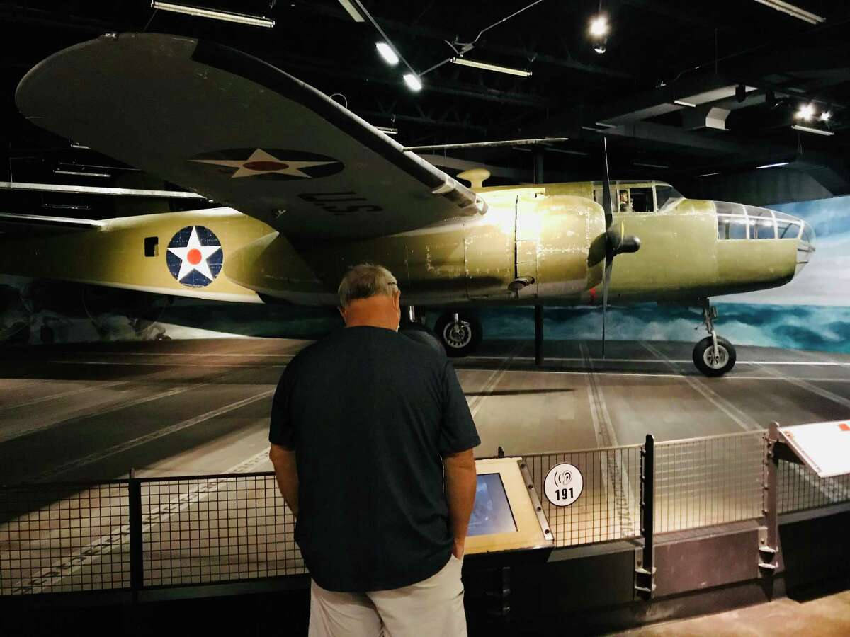 On display at the Museum of the Pacific War is a B-25 used in the famed Doolittle Raid.