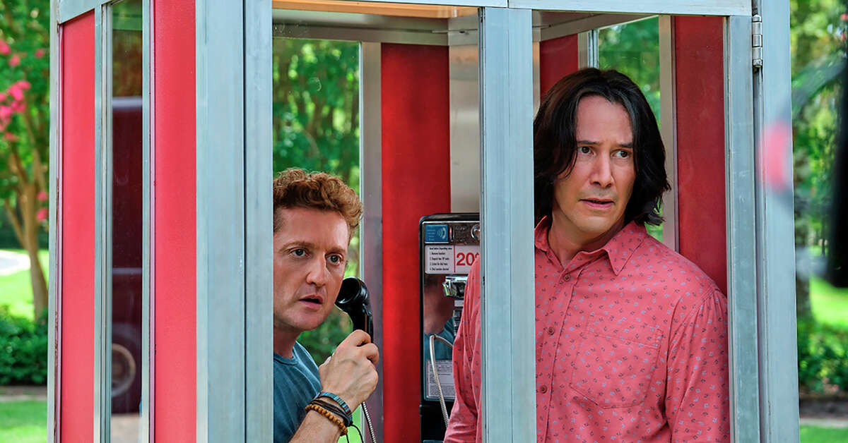 This image released by Orion Pictures shows Keanu Reeves, right, and Alex Winter in a scene from