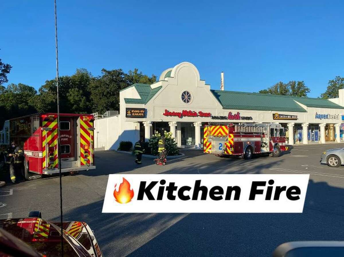The Fairfield Fire Department extinguished a kitchen fire in the Jersey Mike's on Black Rock Turnpike Sunday morning.