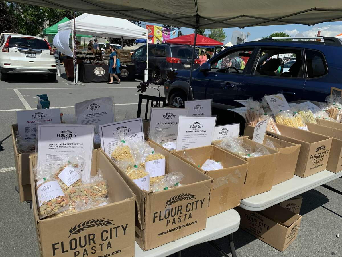 Variety of pastas from the Rochester-based Flour City Pasta company.