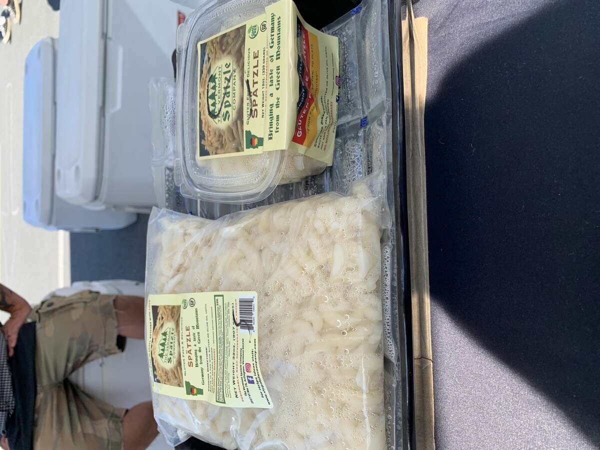 Wares from the Vermont Spatzle Company at the Troy Waterfront Farmers Market.