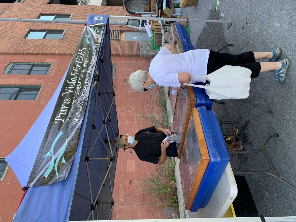 Pura Vida Fisheries at the Troy Waterfront Farmers Market.
