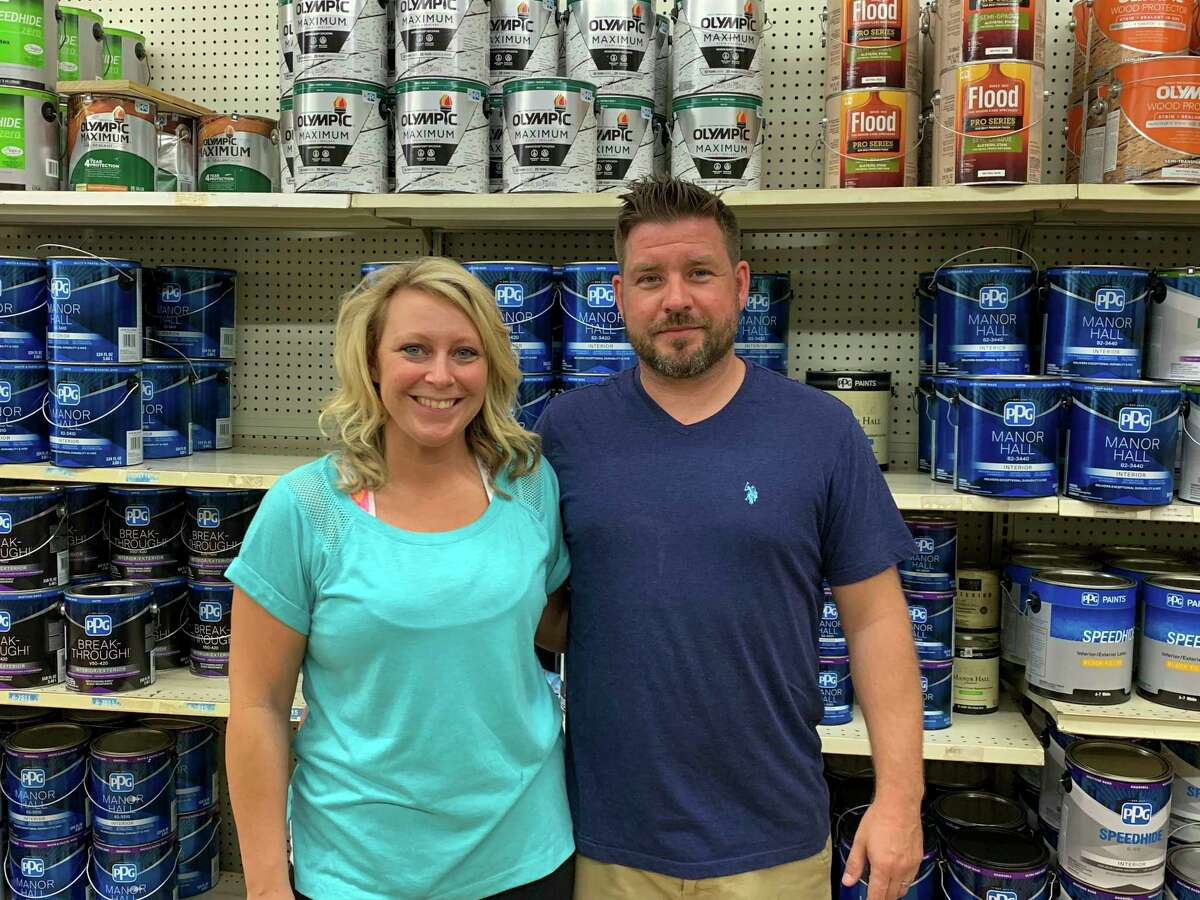 Long-time Bad Axe small business Roland's Paint and More is operating under new ownership. New owners Shawn and RaeAnn Roehrig plan on keeping the paint store's legacy alive, continuing its high standard of customer service and fair pricing for the community. (Paige Withey/Huron Daily Tribune)