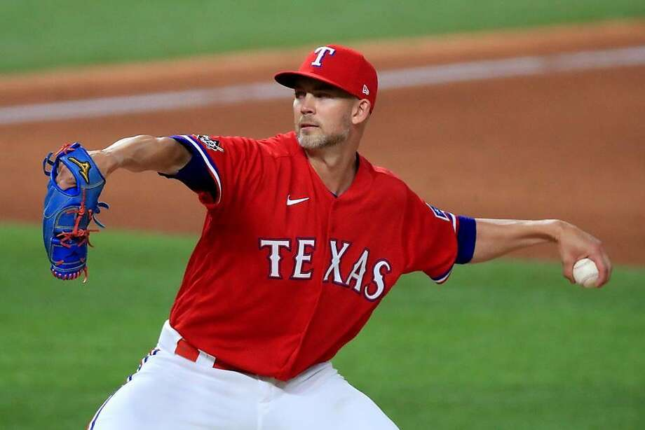 Texas Rangers left hander Mike Minor has been traded to the Oakland Athletics, according to ESPN's Jeff Passan. Photo: Tom Pennington, Getty Images