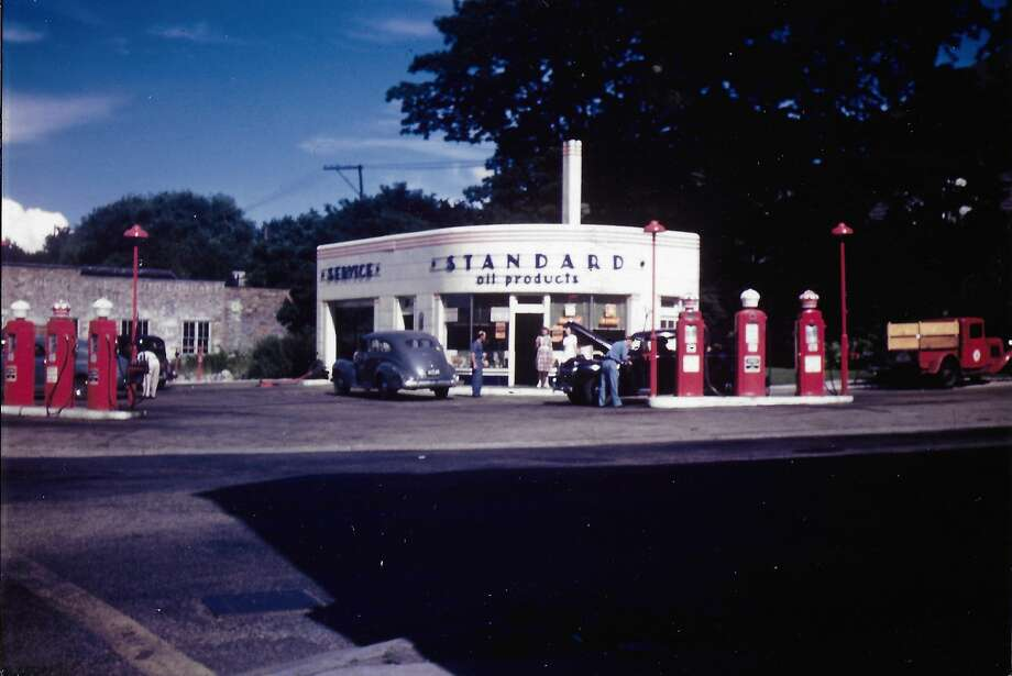 In 1940, a second service station was constructed by the Standard Oil Co. at the corner of River and Division Street in Manistee. Photo: Don Darling/Courtesy Photo