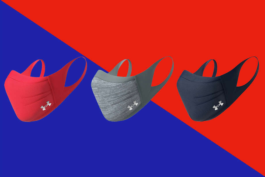 UnderArmour Sportsmasks now come in three new colors available: gray, navy and red. Photo: UnderArmour/Hearst Newspapers