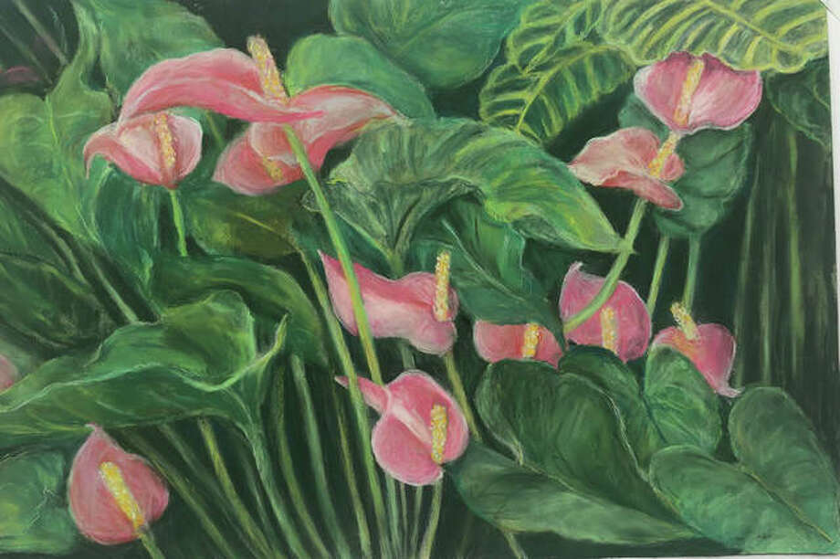 """Gwen's Anthurium"" by Rosemary Buffington. Photo: Photo Provided"