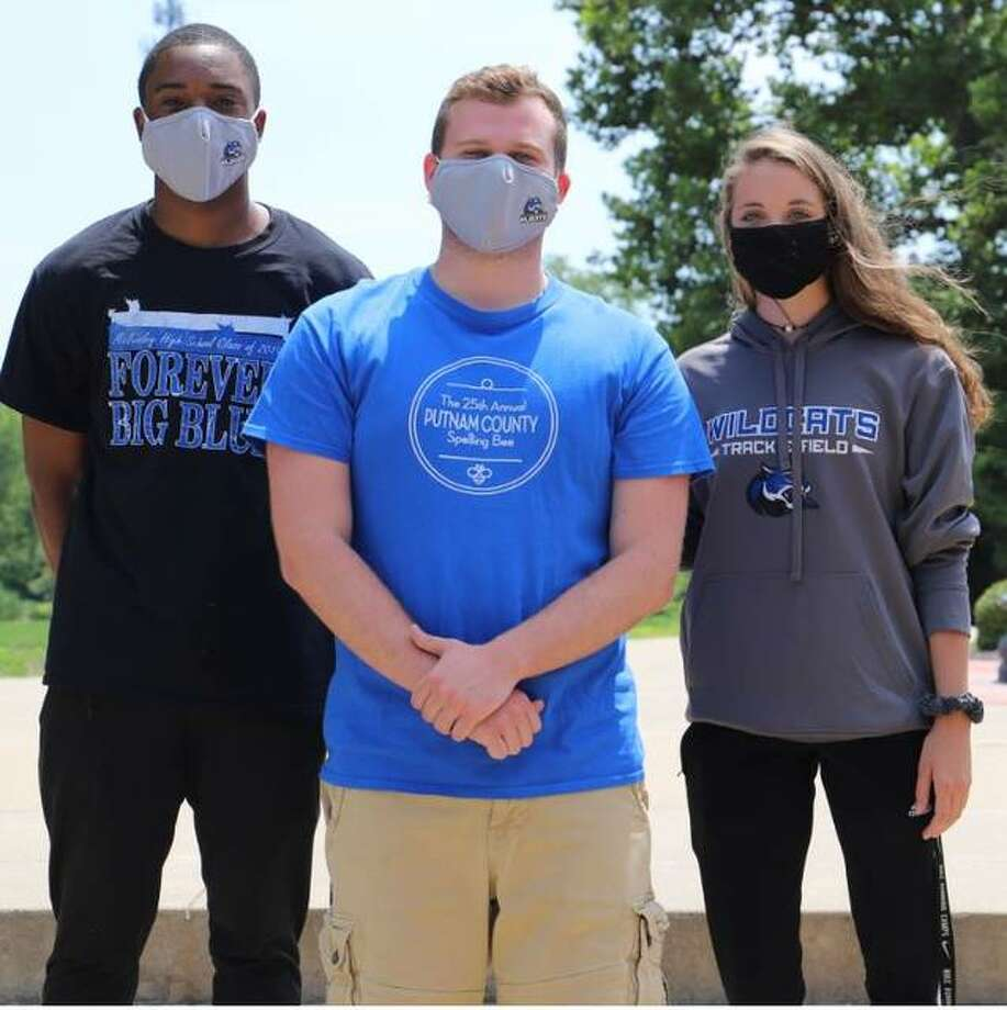 Recently named to the Culver-Stockton Resident Life staff are, from left, Malik Sylvester, Alex Siron and Payton Flowers.