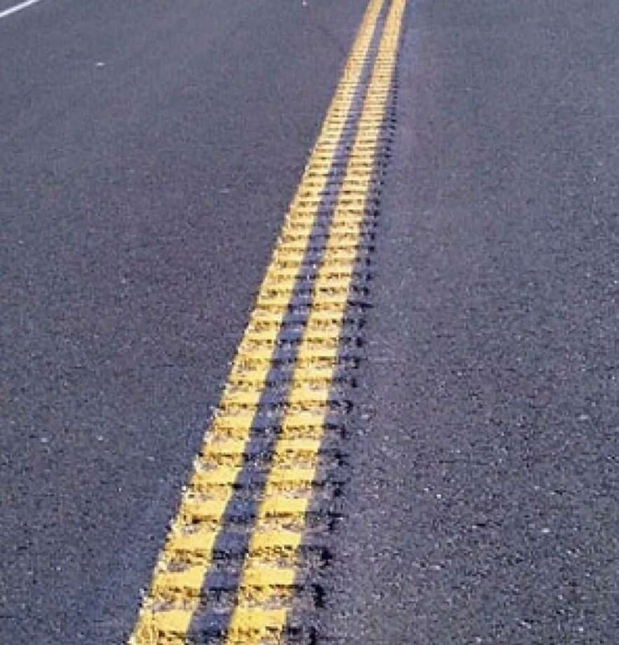The state Department of Transportation will be installing centerline rumble strips along 3.91 miles Route 110 in Stratford and Shelton, also known as River Road. The overnight will occur on Thursday, Sept. 3, and Tuesday, Sept. 8. Photo: State Department Of Transportati / Contributed Photo / Connecticut Post