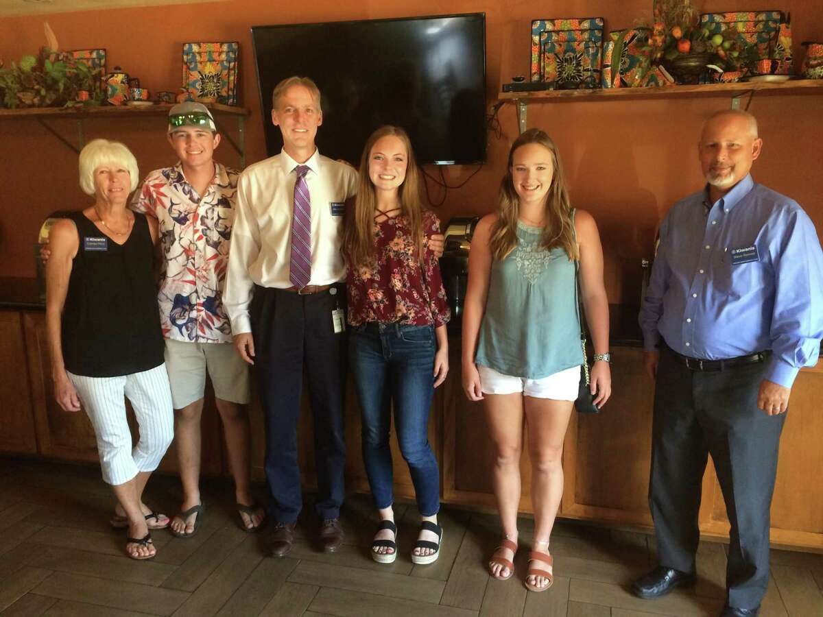 2020 scholarship recipients joined in at the Aug. 12 Conroe Noon Kiwanis Club meeting.