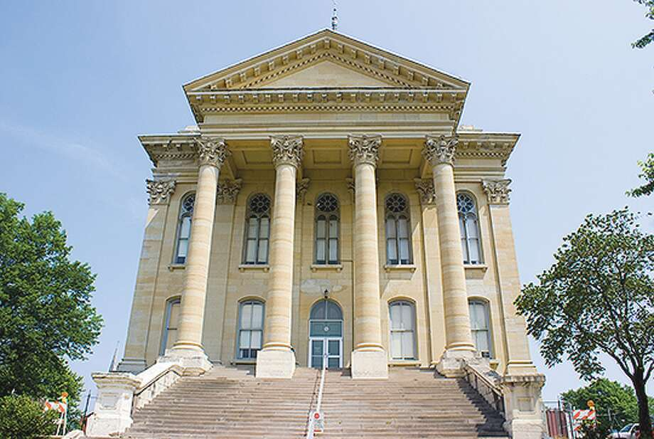 """The Macoupin County Courthouse in Carlinville is known as the """"million dollar courthouse"""" and considered one of the largest county courthouses in the U.S. Photo: Mark Williamson"""