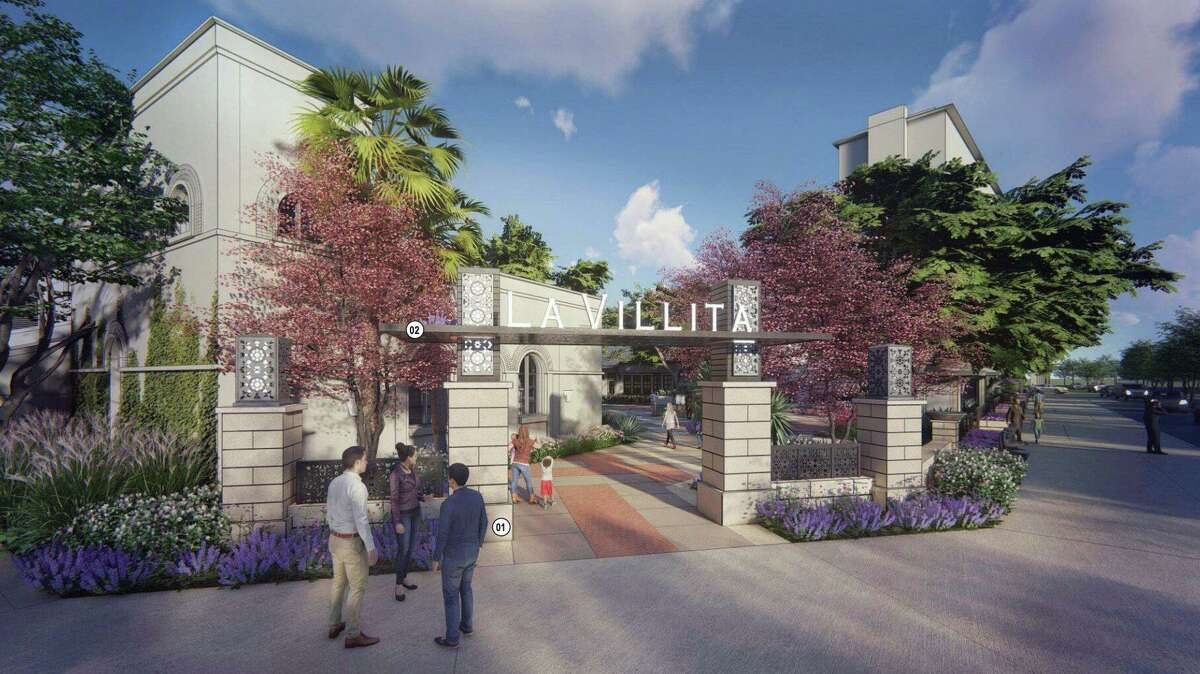 The rendering shows the planned makeover of Maverick Plaza. At a Historic and Design Review Commission meeting, the La Villita Tenants Association asked for more signage at Villita Street, a primary entry point to the village.