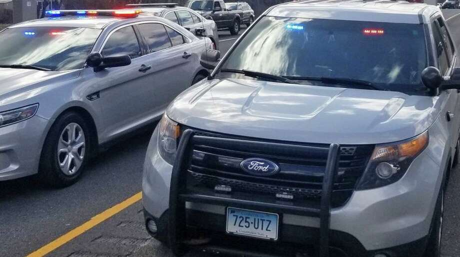 State police on I-84 in Danbury, Conn. Photo: Danbury Fire Department