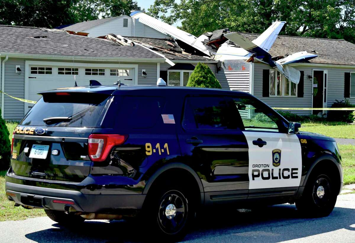 Groton, Connecticut - Tuesday, August 18, 2020: No one was injured after a small plane crashed into an occupied house Monday night at 243 Ring Avenue in Groton. Police said the airplane's two occupants were able to self-extricate themselves and were transported by ambulance to Lawrence + Memorial Hospital in New London. Kenneth Johnson, 73, the owner of the house who was inside the house at the time of the crash, was not injured.