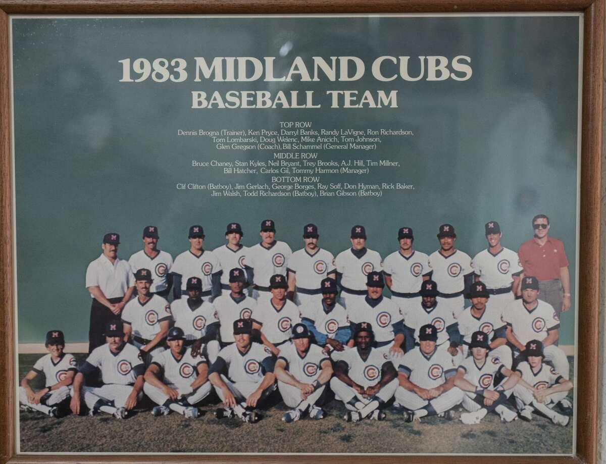 Bill Schammel in his office 09/01/2020 with some of his Midland Cubs memorabilia. Tim Fischer/Reporter-Telegram