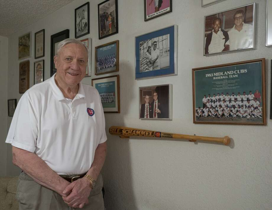 Bill Schammel in his office 09/01/2020 with some of his Midland Cubs memorabilia. Tim Fischer/Reporter-Telegram Photo: Tim Fischer/Midland Reporter-Telegram