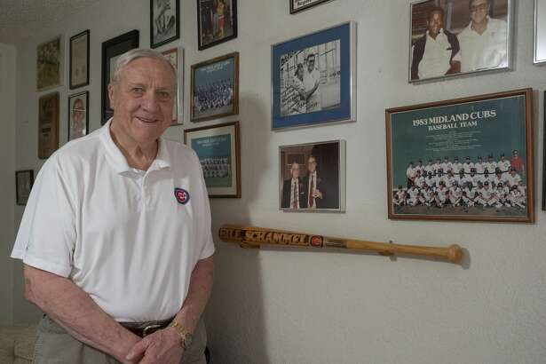 Bill Schammel in his office 09/01/2020 with some of his Midland Cubs memorabilia. Tim Fischer/Reporter-Telegram