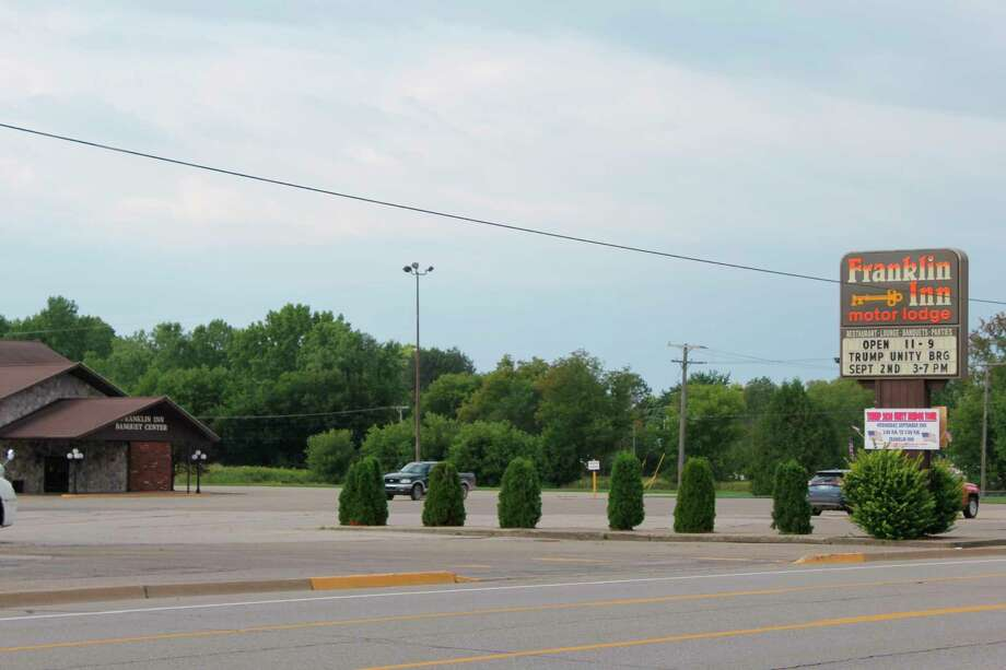 The Franklin Inn parking lot, where a Trump Unity Bridge rally will take place on Wednesday. A protest to the rally will take place nearby around the same time as the rally. (Robert Creenan/Huron Daily Tribune)