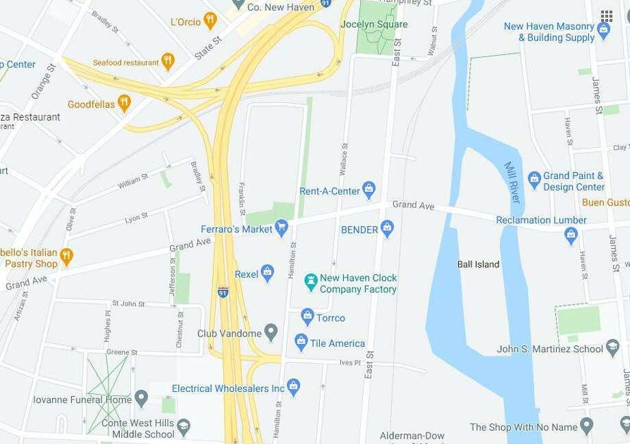 The area around Grand Avenue and Hamilton Street. Photo: Google Maps