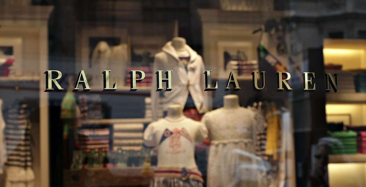 Ralph Lauren clothing sits on display inside a New York store in 2009.