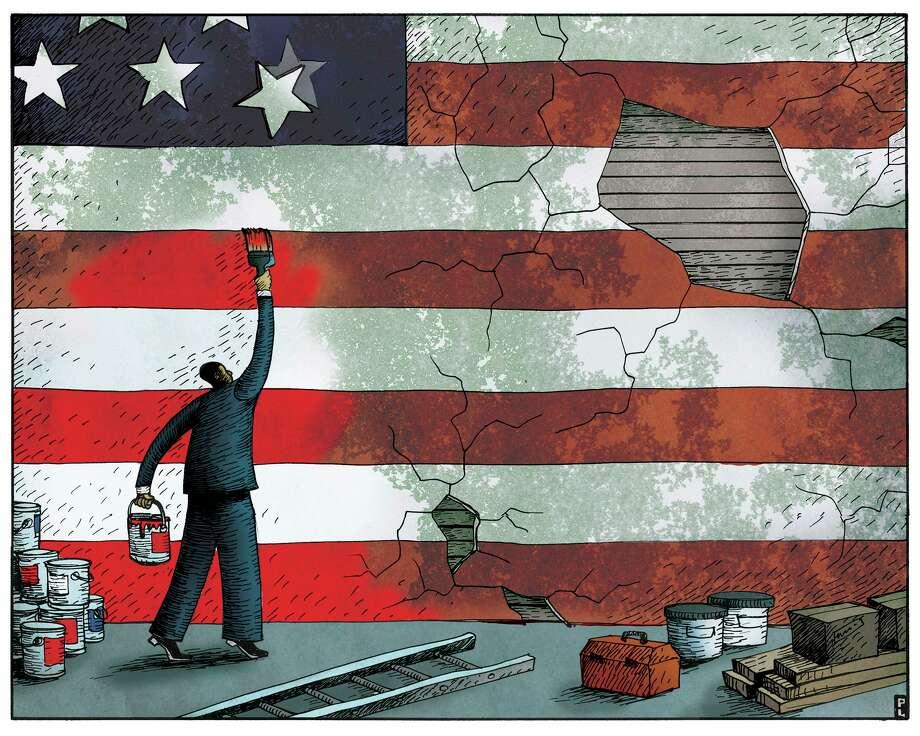 OPINION ART- Paul Lachine - pa3213c - repairing america, american image Photo: Paul Lachine / Newsart.com / handout web