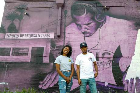 Avery Harper Williams and Briana Johnson, of Six Lanes entertainment, photographed at Super Happy Fun Land, Monday, August 3, 2020, in Houston.