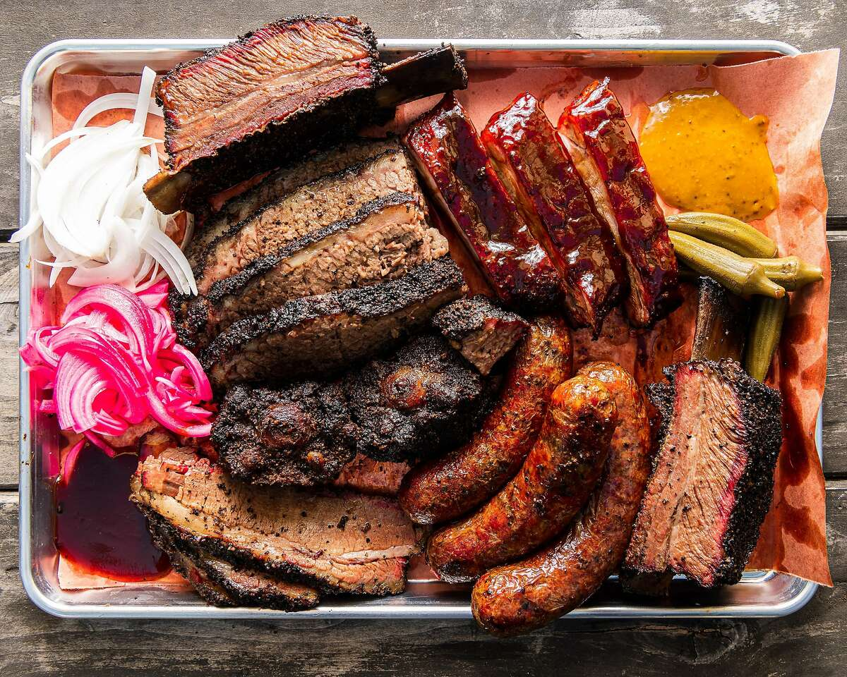 Brisket, ribs and sausage at Horn BBQ in Emeryville, Calif.
