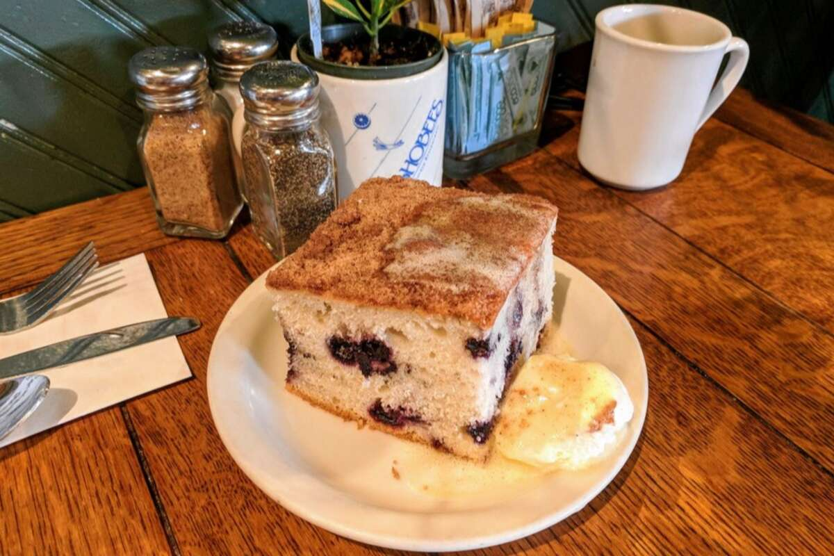 Hobee's Restaurant Hobee's blueberry coffee cake has been a local staple since 1975 and is normally served as a complimentary side at its restaurants, but homesick fans can find the whole cake available for purchase online (that's 4 pounds we're talking about). The diner also sells its pumpkin walnut coffee cake. Hobee's Restaurant |Multiple locations| Find them on Goldbelly