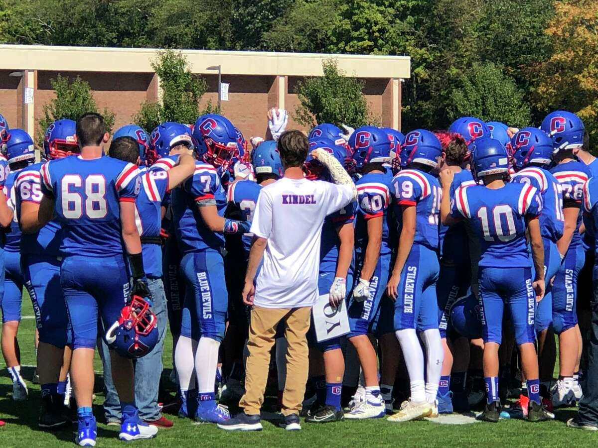 The Coginchaug football team, seen here last fall, has been given the clearance to begin practicing on Thursday.
