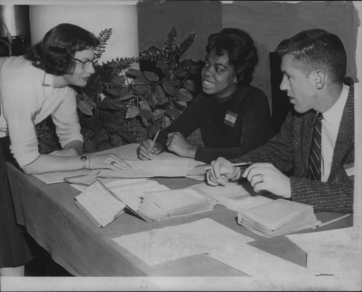 It was early in April, 1960, when census enumerators Penelope Pelton, Blanche Wilson and Edward H. Bleasing got together in the Capital Region to help with the count. The U.S. had 179 million people in 1960 and by 1970 that had hit 204 million. (Times Union Archive)