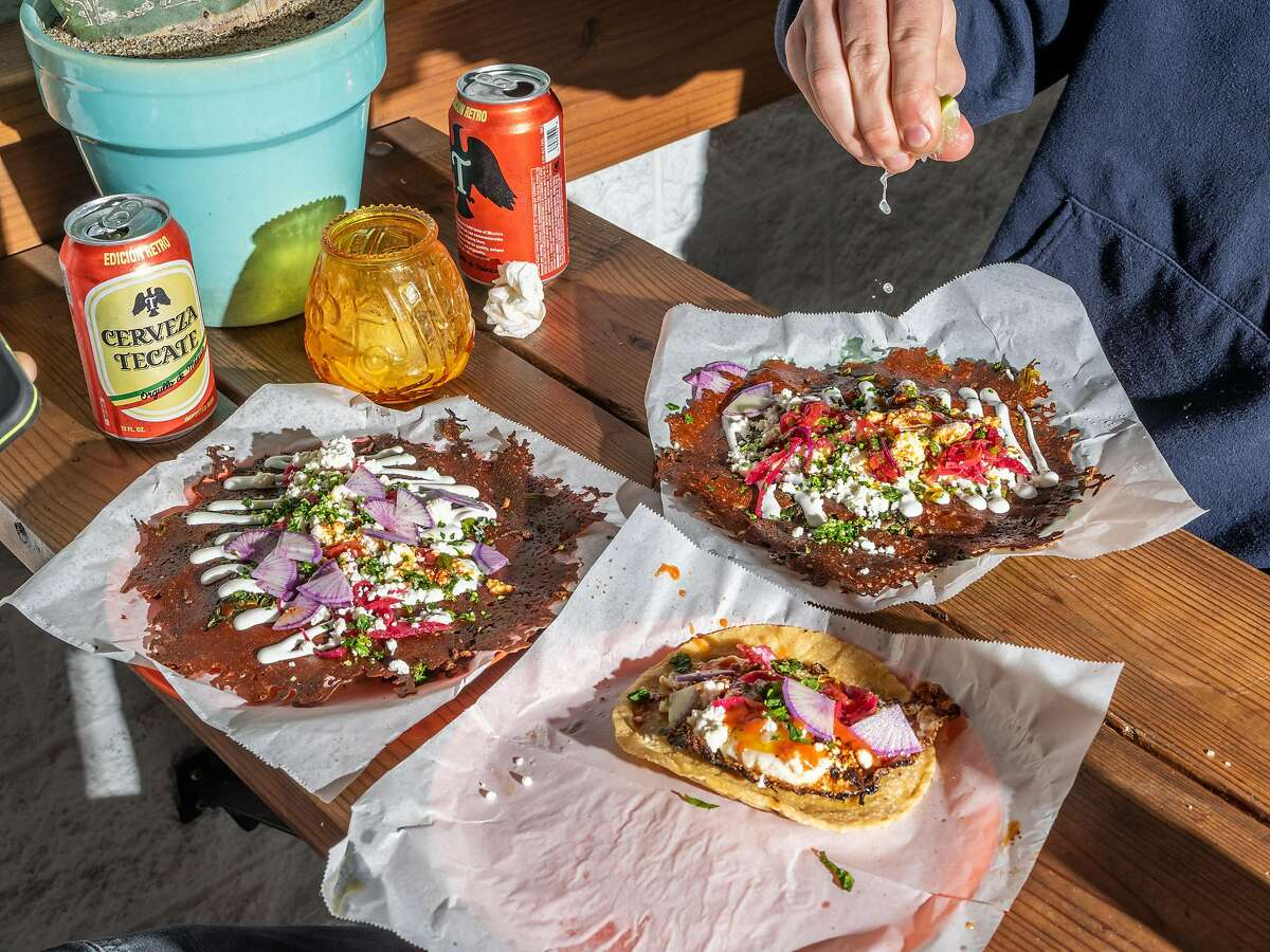 Tacos Oscar was recognized by California's Michelin inspectors on Tuesday for the tacos it sells in Oakland. The small restaurant is tucked away in shipping containers in Temescal.