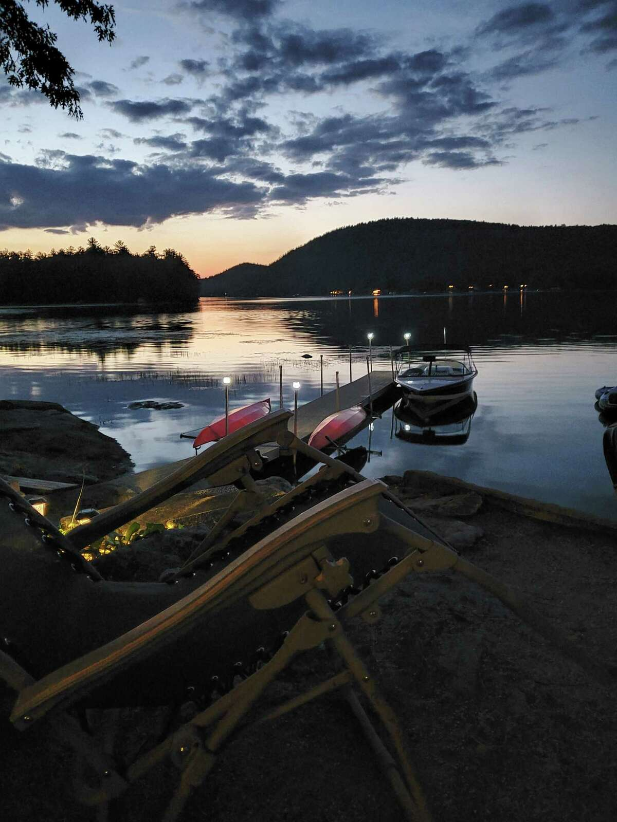 Dan Lynch of Latham shares a sunset at Lake Massacecum, New Hampshire.